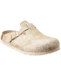 Birkenstock Papillio Boston Wool Mule - White