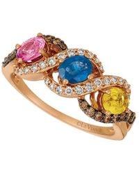 Le Vian ? 14k Rose Gold 1.70 Ct. Tw. Diamond & Sapphire Ring - Metallic
