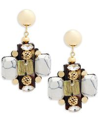 Nocturne - Crystal Drop Earrings - Lyst