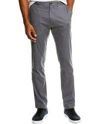 Grayers Bermuda Linen-blend Stretch Slim Fit Pant - Gray