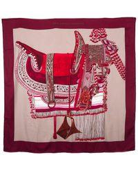 "Hermès ""selle D'apparat Marocaine,"" By Wlodek Kaminski Silk-blend Scarf - Red"