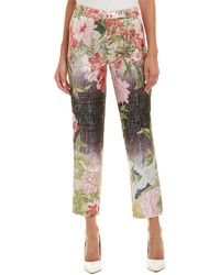 Josie Natori Birds Of Paradise Cropped Trousers - Multicolour