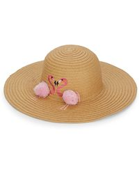 Collection 18 - Flamingo Pom-pom Floppy Hat - Lyst