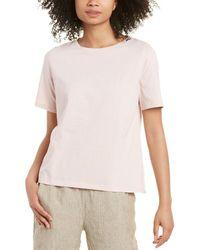 Eileen Fisher Petite Round Neck T-shirt - Pink