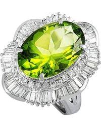 Heritage - Platinum 8.99 Ct. Tw. Diamond & Peridot Ring - Lyst