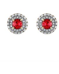 Heritage 18k 1.65 Ct. Tw. Diamond & Ruby Earrings - Multicolor