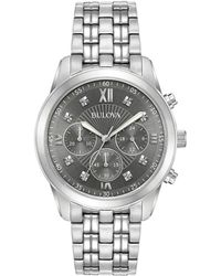 Bulova Men's Stainless Steel Watch - Metallic