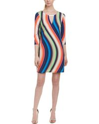 Trina Turk Bolero Shift Dress - Blue