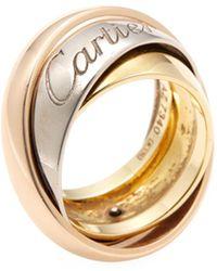 Cartier Vintage 18k Tri-tone Gold Large Rolling Ring - Metallic