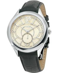 Alor - Stainless Steel & Leather Watch - Lyst