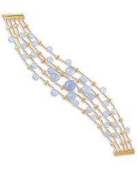 Marco Bicego Paradise 18k Chalcedony Multi-strand Bracelet - Metallic
