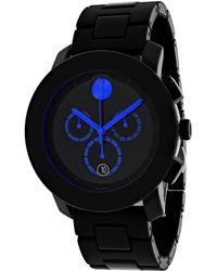 Movado Bold Black Dial Tr90 Mens Watch