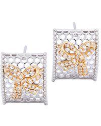Diana M. Jewels . Fine Jewellery 14k 0.27 Ct. Tw. Diamond Hoops - Metallic