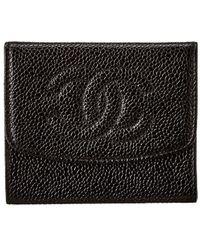 Chanel Black Caviar Leather Coin Purse