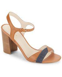 Cole Haan - Florena Leather Colorblock Sandal - Lyst