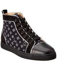 Christian Louboutin Louis Orlato Leather & Suede Sneaker - Black