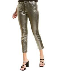 J Brand - Ruby Silver Sleepwalker High-rise Crop - Lyst