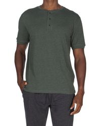Unsimply Stitched Super Soft Henley - Green