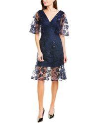 Dress the Population Roseanna A-line Dress - Blue