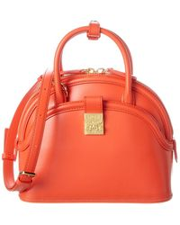 MCM Anna Leather Satchel - Red