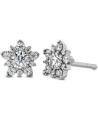 Hearts On Fire 18k 0.60 Ct. Tw. Diamond Aerial Cluster Studs - Multicolour