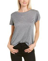 Helmut Lang Drapey T-shirt - Grey