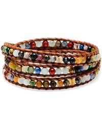 Chan Luu Silver Pietersite Wrap Bracelet - Metallic