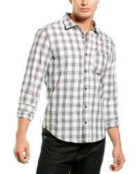 Michael Stars Woven Linen-blend Shirt - White