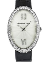 Van Cleef & Arpels 18k Yellow Gold Pearl & Diamond Cocktail Ring - Metallic