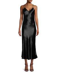 Rebecca Minkoff Max Fluted Crinkled-satin Midi Dress - Black