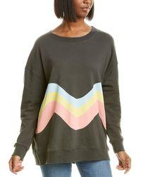 Wildfox Roadtrip Wavin' Sweatshirt - Black