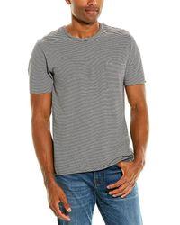 Vince Feeder Stripe Pocket T-shirt - Black
