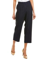 Eileen Fisher Silk Ankle Pant - Blue
