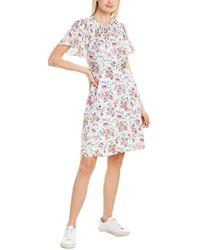 Rebecca Taylor Esmee Fleur Silk-blend Mini Dress - Pink