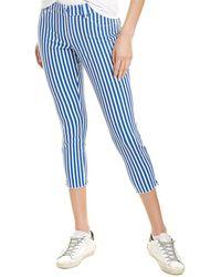 Hue Summer Stripe Ultra Soft Legging - Blue