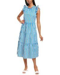 J.Crew Abigail Midi Dress - Blue