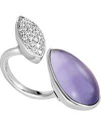 Heritage 18k 0.40 Ct. Tw. Diamond & Amethyst Ring - Multicolour