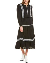 Rebecca Minkoff Esme Midi Dress - Black