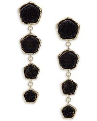 Panacea Classic Four-drop Earrings - Black
