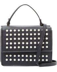 Deux Lux All Over Pearl Crossbody Bag - Black