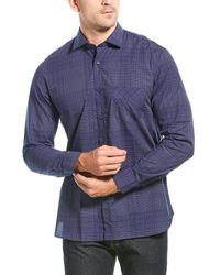 Billy Reid Holt Standard Fit Woven Shirt - Blue