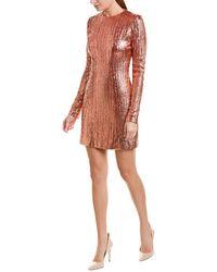 Galvan London Sheath Dress - Metallic