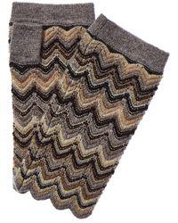 Forte Zig Zag Cashmere Texting Glove - Multicolour