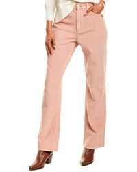 Rag & Bone Ruth Pink Corduroy Super High-rise Straight Leg Jean