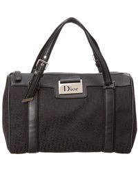 Dior Dior Black Trotter Canvas Boston Bag