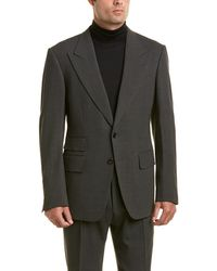 Tom Ford - 2pc Wool-blend Suit With Pleated Pant - Lyst