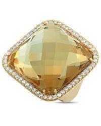 Roberto Coin 18k 1.25 Ct. Tw. Diamond & Smoky Quartz Ring - Metallic