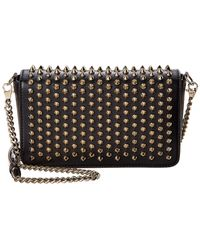 Christian Louboutin Zoompouch Leather Crossbody Bag - Black