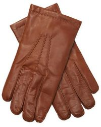Portolano Nappa Slit Gloves - Brown