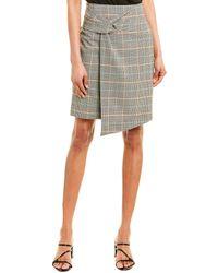 Ba&sh Grena Wool-blend Pencil Skirt - Green